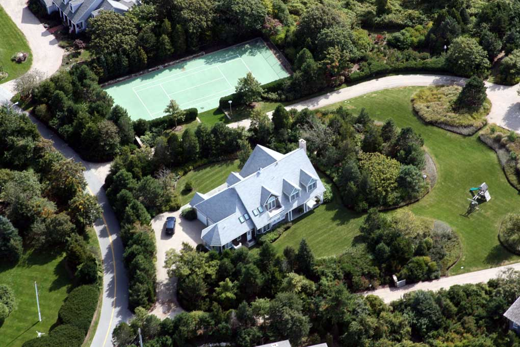 Arial photo of custom home