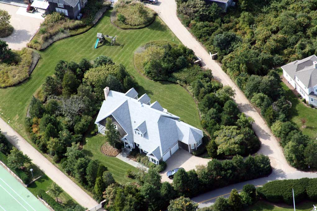 Custom home arial view
