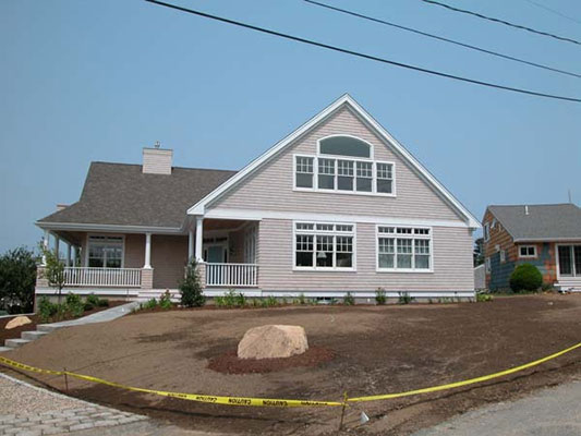 Cape Cod addition after construction